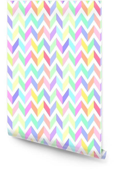 Chevron pastell fargerik mønster sømløs vektor Rulletapet - Grafiske Ressurser