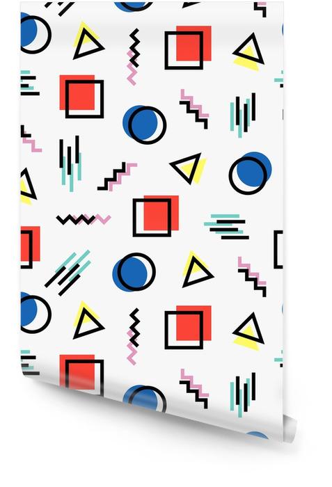 Modello colorato stile memphis Rotolo di carta da parati - Risorse Grafiche