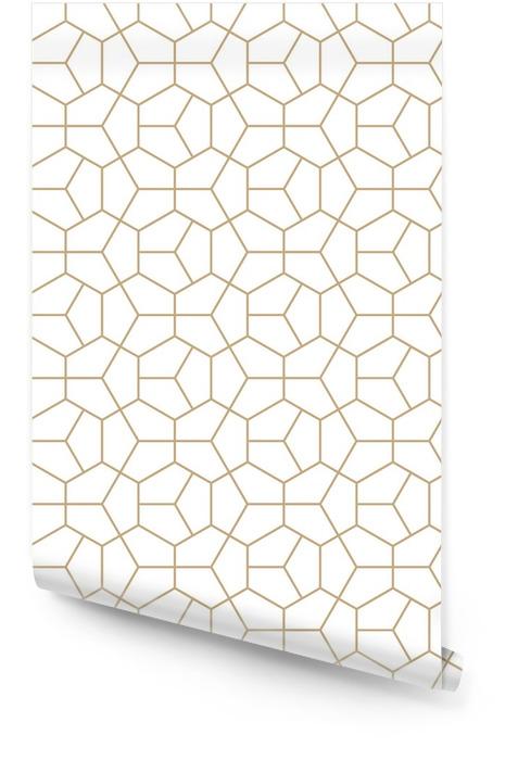 Abstrakt geometri gull deco kunst sekskant mønster Rulletapet - Grafiske Ressurser