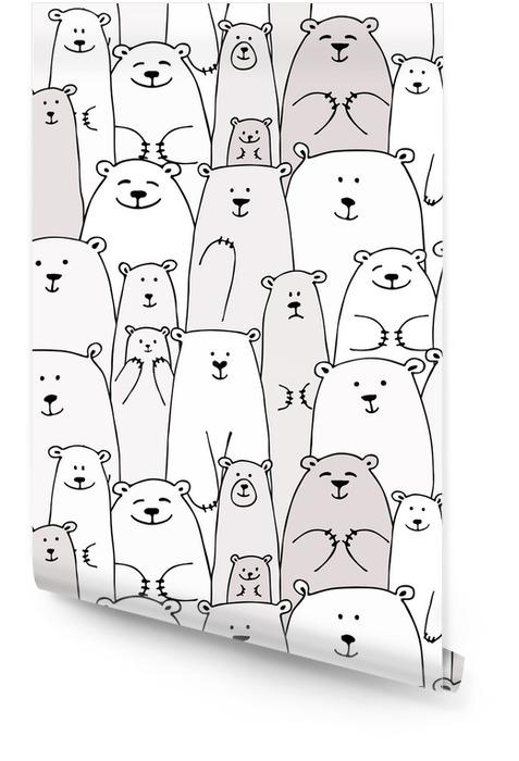 Lleva familia, patrones sin fisuras para su diseño Rollo de papel pintado - Animales