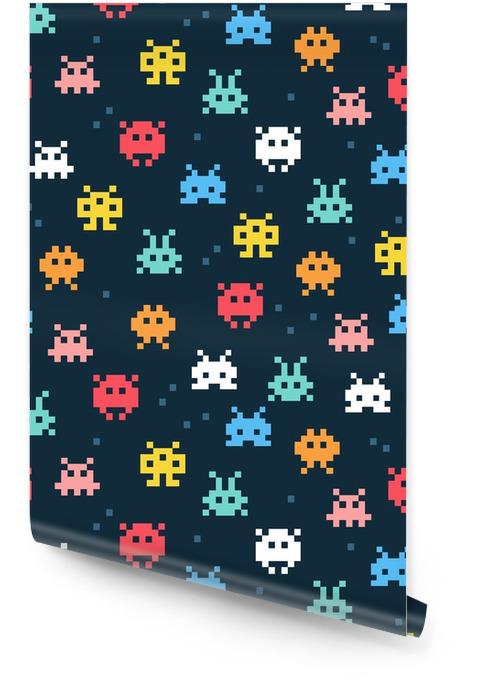 Pixel monsters Behangrol - Grafische Bronnen