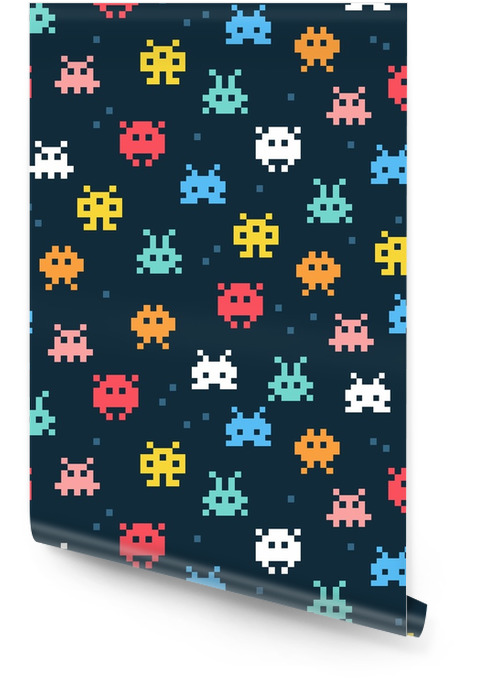 Monstruos pixel Rollo de papel pintado - Recursos gráficos