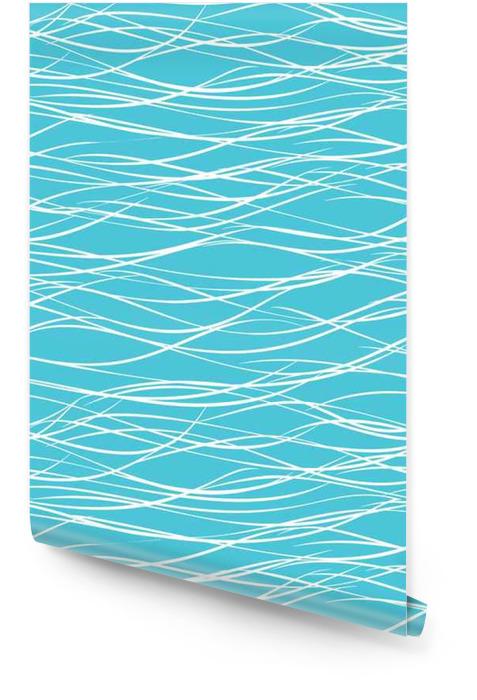 Naadloze abstracte zee golven vector patroon. Behangrol - Grafische Bronnen