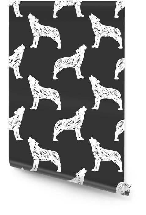Motif de loup sans soudure Rouleau de papier peint - Ressources graphiques