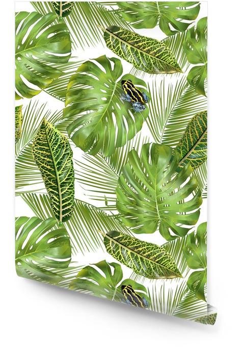 Tropisch bladerenpatroon Behangrol - Bloemen en Planten