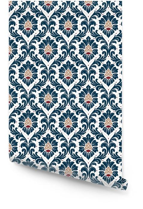Luksusowy staroświecki adamaszku ornament, królewski wiktoriański bezszwowa tekstura dla tapet, tkanina, opakunkowy. wykwintny kwiatowy barokowy szablon. Tapeta w rolce - Zasoby graficzne