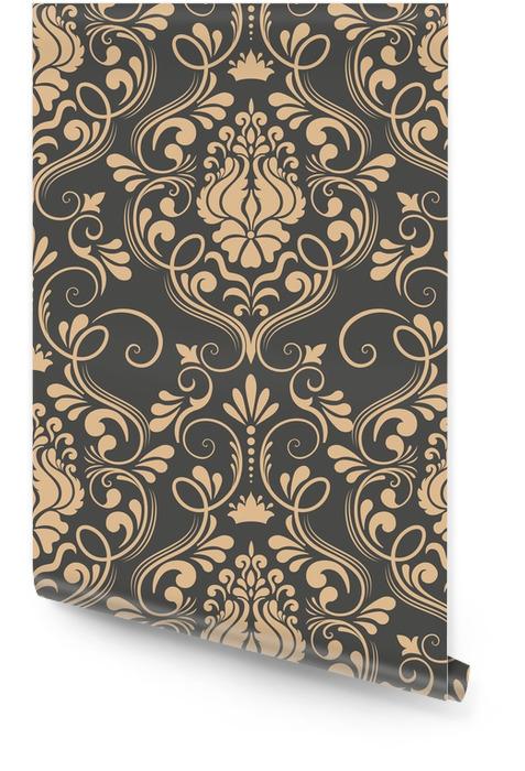 Element adamaszku wektor wzór. klasyczny luksus staroświecki barokowy ornament, królewski wiktoriański bez szwu tekstury do tapet, tekstylne, owijania. wykwintny kwiatowy barokowy szablon. Tapeta w rolce - Zasoby graficzne