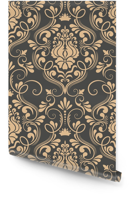 Vector damask seamless pattern element. Classical luxury old fashioned damask ornament, royal victorian seamless texture for wallpapers, textile, wrapping. Exquisite floral baroque template. Wallpaper roll - Graphic Resources
