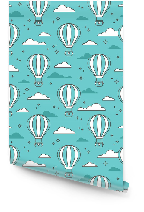 Seamless pattern with air balloons Wallpaper roll - Graphic Resources