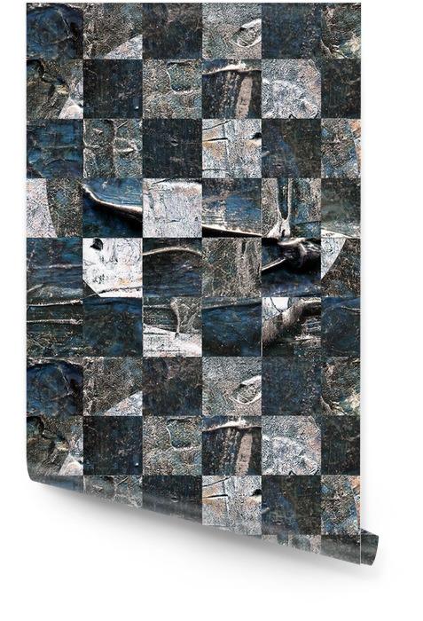 Grunge texturé abstrait damier abstrait Rouleau de papier peint - Ressources graphiques