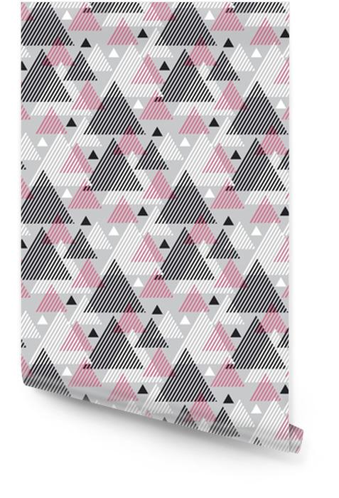 Nowoczesny styl ilustracji wektorowych do projektowania powierzchni. abstrakcyjny wzór bez szwu z motywem trójkąta pasiasty. Tapeta w rolce - Zasoby graficzne