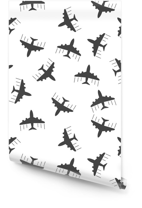Rouleau De Papier Peint Icone De Fond Transparente Avion Modele Illustration Vectorielle Plane Modele De Symbole De Signe Avion Pixers Nous Vivons Pour Changer
