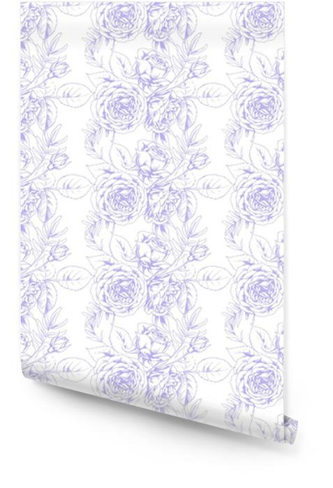 Conception de tissu dans un style vintage français avec motif floral 2 Rouleau de papier peint - Ressources graphiques