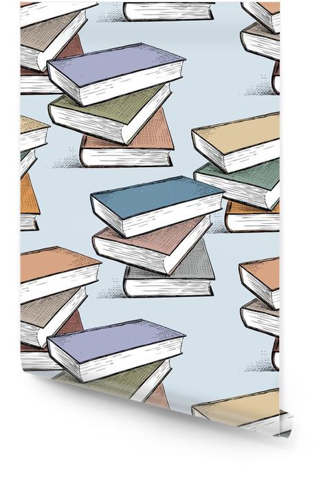 Patrón de las pilas de libros de texto Rollo de papel pintado - Hobbies y entretenimiento