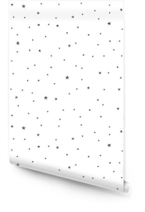 Modello senza cuciture stelle nere incrinate. tessile o carta da imballaggio. Rotolo di carta da parati - Risorse Grafiche