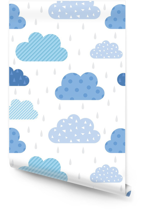 Schattig wolkenpatroon Behangrol - Grafische Bronnen