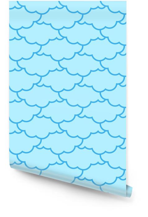 Nubes de patrones sin fisuras. fondo del cielo ornamento retro para el paño Rollo de papel pintado - Recursos gráficos