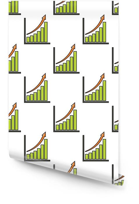Gráfico con un patrón sin fisuras de flecha en estilo de dibujos animados aislado sobre fondo blanco ilustración vectorial Rollo de papel pintado - Negocios