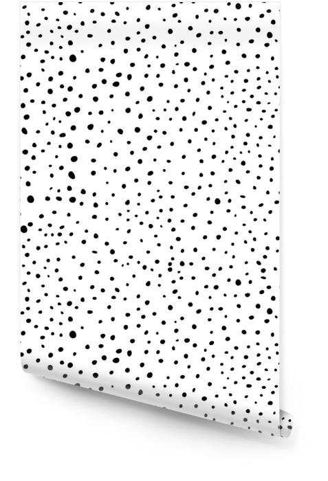 Czarno-białe gryzmoły Tapeta w rolce - Zasoby graficzne
