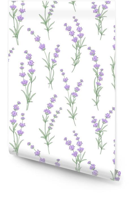 Modèle sans couture de fleurs de lavande sur fond blanc. modèle aquarelle avec de la lavande pour l'échantillon de tissu. modèle sans couture pour le tissu. illustration vectorielle Rouleau de papier peint - Style de vie