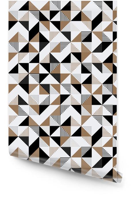 Un fond géométrique or et noir. Rouleau de papier peint - Ressources graphiques