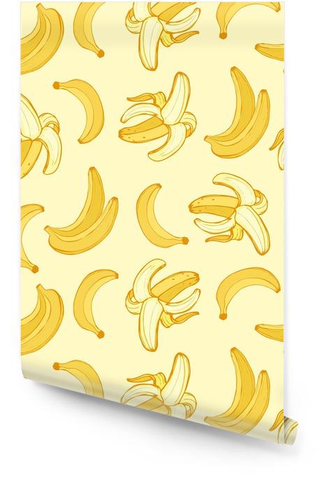Rolo De Papel De Parede Frutas Frescas De Banana De Desenhos