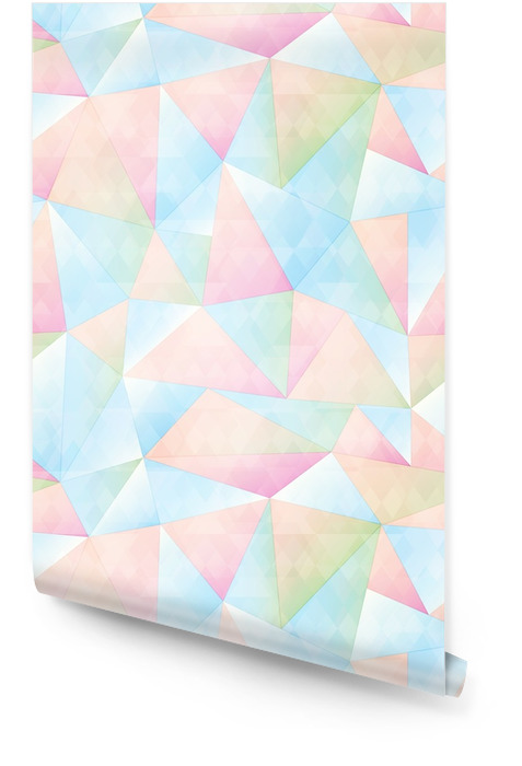 Pastel color triangle seamless pattern Wallpaper roll - Graphic Resources