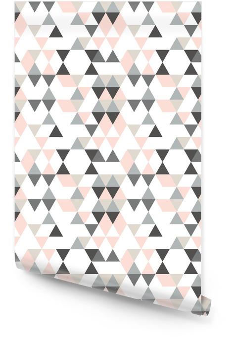 Geometryczny abstrakcyjny wzór z trójkątami w stonowanych kolorach retro. Tapeta w rolce - Zasoby graficzne