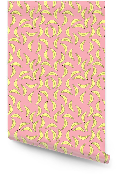 Seamless banana pattern Wallpaper roll - Graphic Resources