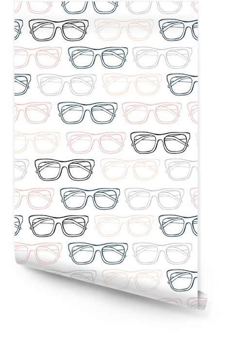 Glasses seamless pattern, hand drawn vector. Sketch illustration. Wallpaper roll - Lifestyle