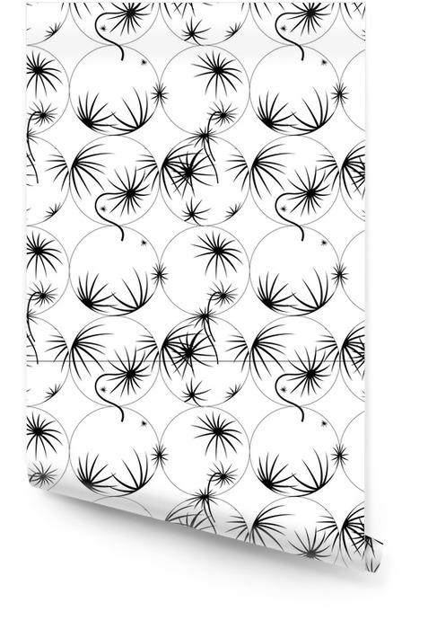 Texture transparente de vecteur de pissenlits monochromes Rouleau de papier peint - Ressources graphiques