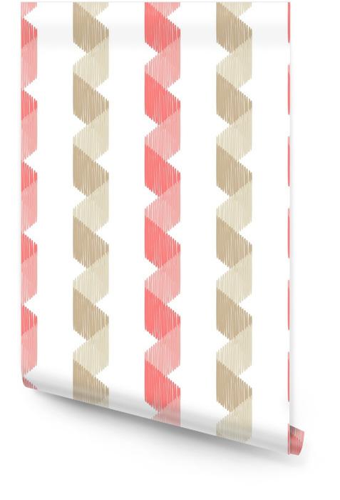 Etnisk boho sømløs mønster. scribble tekstur. retro motiv. tekstilrapport. Rulletapet - Grafiske Ressurser