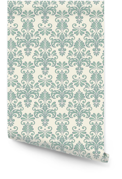 Seamless Vector floral wallpaper baroque style pattern Wallpaper roll - Graphic Resources