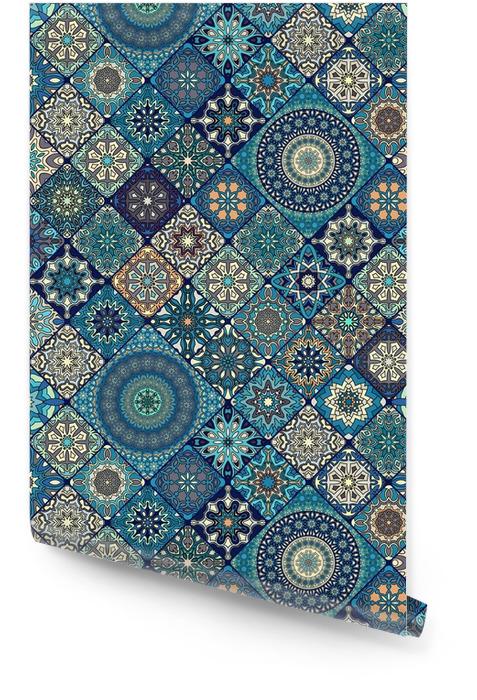 Sømløs mønster. vintage dekorative elementer. håndlaget bakgrunn. islam, arabisk, indisk, osmannisk motiv. Perfekt for utskrift på stoff eller papir. Rulletapet - Grafiske Ressurser