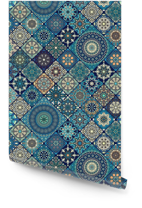 Wzór. zabytkowe elementy dekoracyjne. ręcznie rysowane tła. motywy islamu, arabskie, indyjskie, otomańskie. idealny do drukowania na tkaninie lub papierze. Tapeta w rolce - Zasoby graficzne