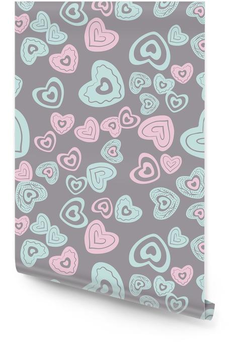 Patrón de corazón sin costuras Rollo de papel pintado - Recursos gráficos