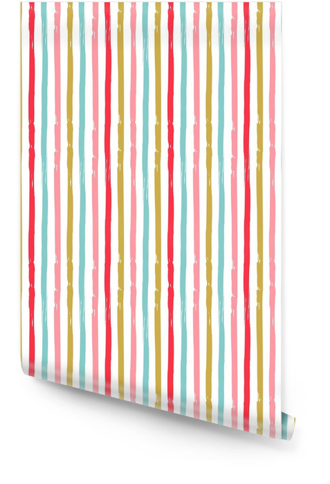 Colorful stripes. Seamless vector pattern. Wallpaper roll - Graphic Resources
