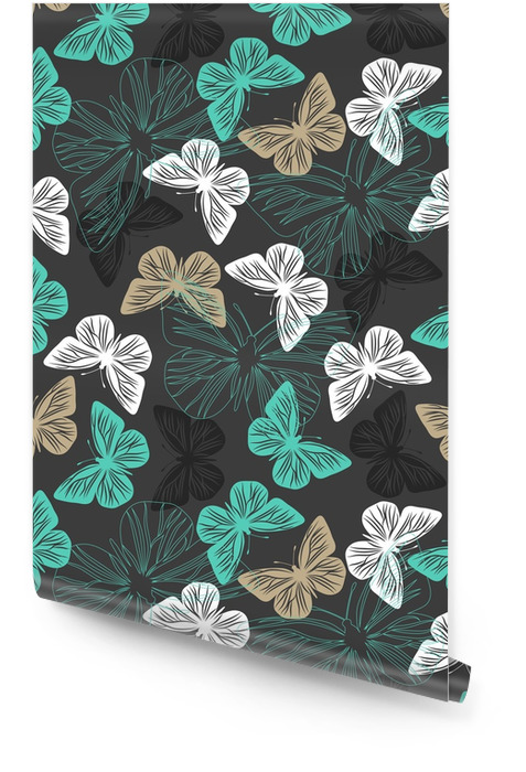 Seamless pattern with butterflies Wallpaper roll - Hobbies and Leisure