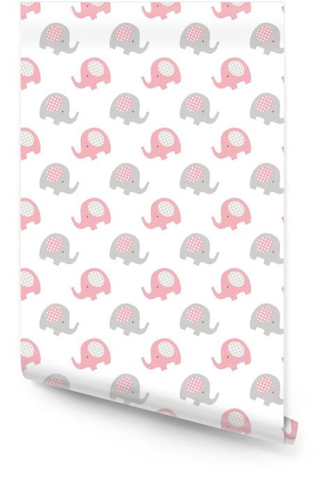 Elefantes patrón de bebé sin costuras Rollo de papel pintado - Recursos gráficos