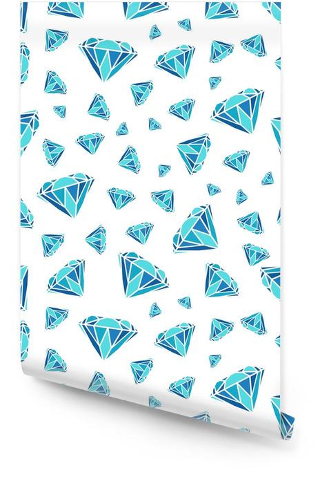 Wzór diamentów. wektor wzór z diamentami. wzór może być stosowany do tapety, wzór wypełnienia tła strony internetowej, tekstur powierzchni i tkanin. czarno-biały wzór. Tapeta w rolce - Hobby i rozrywka
