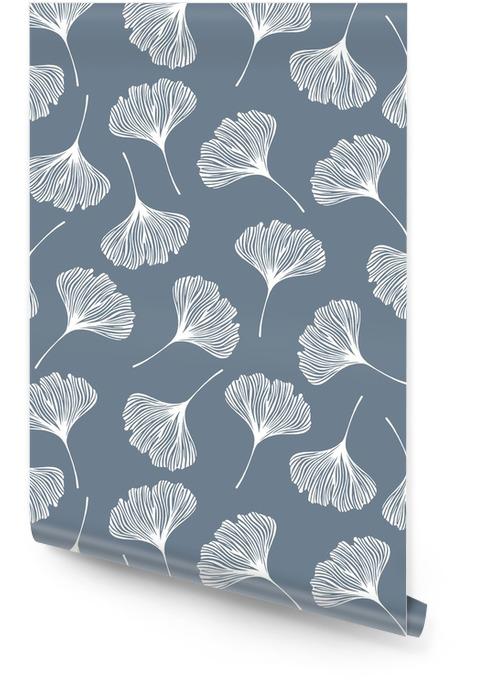 Sin patrón con hojas de ginkgo. Rollo de papel pintado - Recursos gráficos
