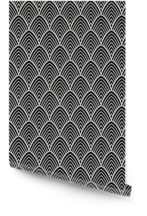 Vintage art deco de patrones sin fisuras. textura decorativa geométrica. Rollo de papel pintado - Recursos gráficos