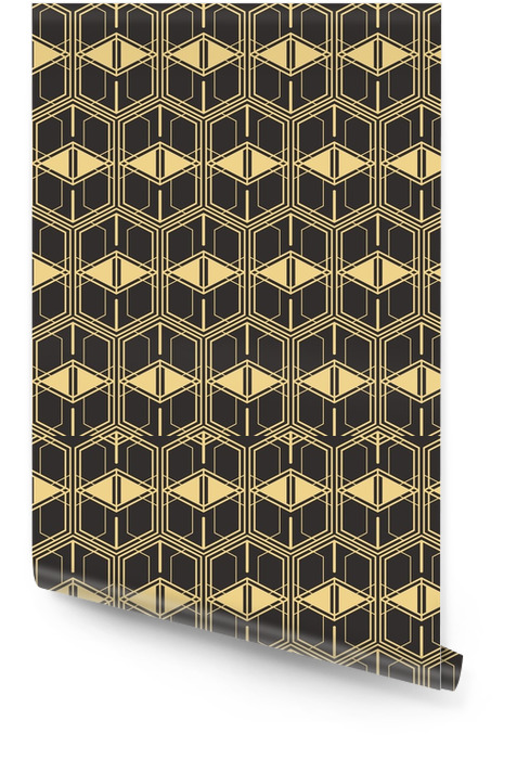 Abstract art deco seamless modern tiles pattern Wallpaper roll - Graphic Resources