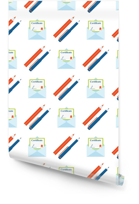 Pencils colorful creative wallpaper certificate education school seamless pattern background vector illustration Wallpaper roll - Lifestyle