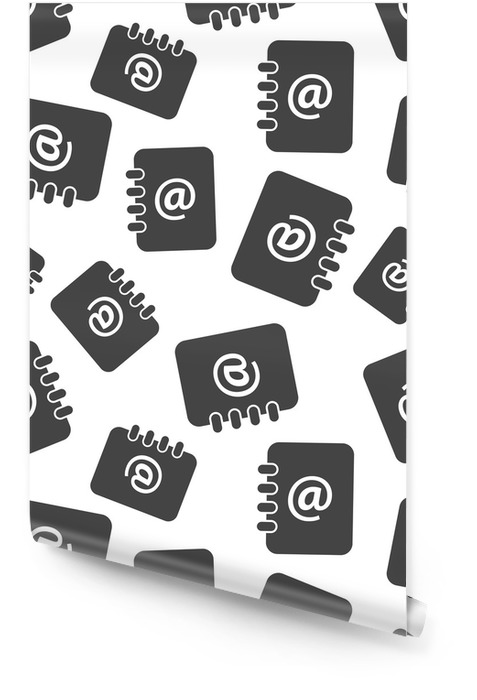 Address book seamless pattern background. Business flat vector illustration. Email note sign symbol pattern. Wallpaper roll - Business