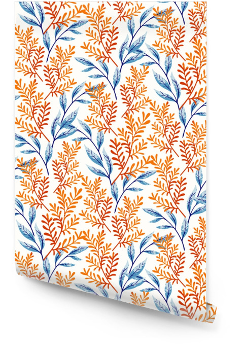 Motif de feuilles d'été Rouleau de papier peint - Plantes et fleurs