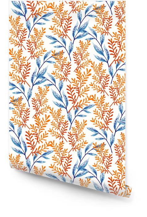 Wzór liści letnich Tapeta w rolce - Rośliny i kwiaty