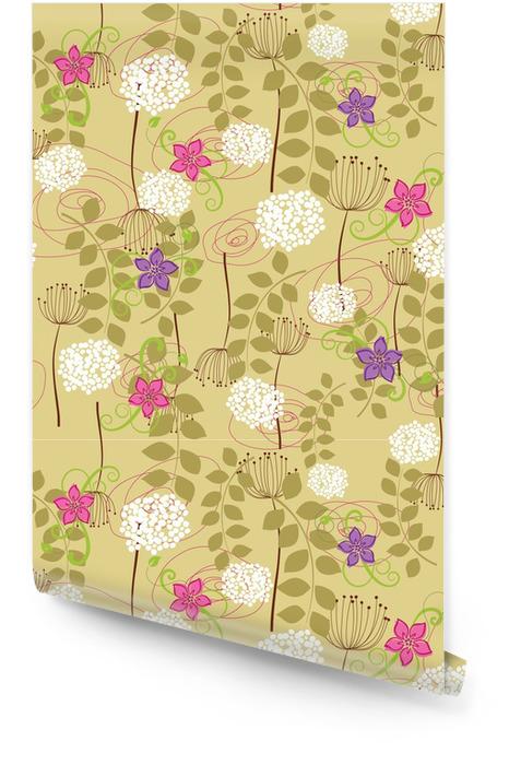Sans joint de pissenlit et fleurs de papier peint Rouleau de papier peint - Saisons
