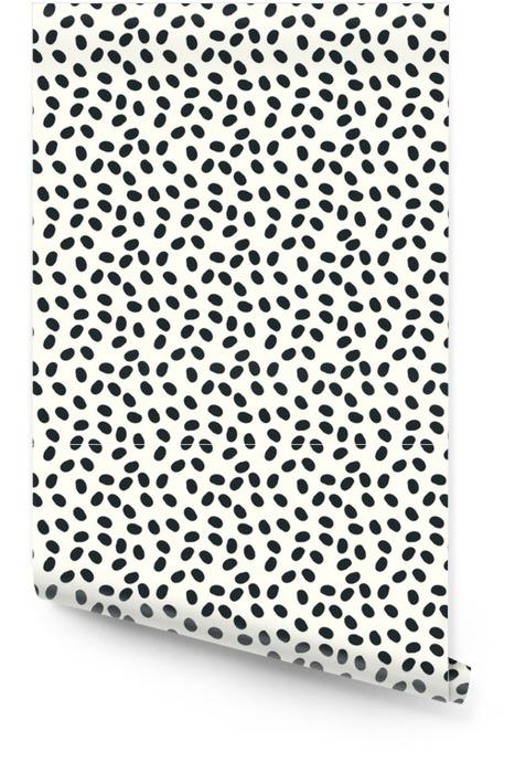Zwart en wit stippen vector naadloze repeapt achtergrond Behangrol - Grafische Bronnen
