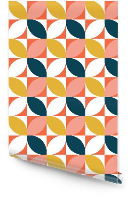 Fargerikt geometrisk sømløs mønster. midten av århundre stil. vektor bakgrunn. Rulletapet - Grafiske Ressurser